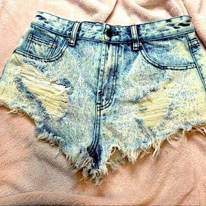 Forever 21 denim distressed cutoff shorts